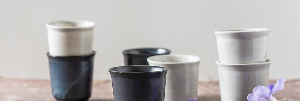 Espresso Cup Set Of 2, Minimalist Pottery Tea Cup, Ceramic Coffee Mug, Modern Pottery Cups, Ceramic Latte Mug, Co Worker Gift