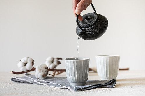 כוסות אספרסו עבודת יד, כוסות קרמיקה מיוחדות, כוסות תה עם טקסטורה, כוסות אפורות, כוסות לקפה שחור