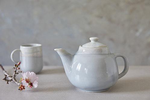 קומקום תה מקרמיקה, קומקום בעבודת יד, קומקום אפור לתה