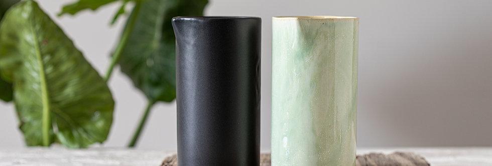 Modern Ceramic Pitcher, Celadon Pottery Vessel, Light-Green Set, Drinking Carafe