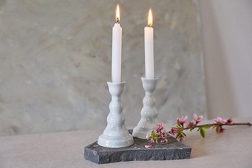 פמוטים מקרמיקה בעבודת יד, פמוטים אפורים לנרות שבת פמוטים אלגנטים