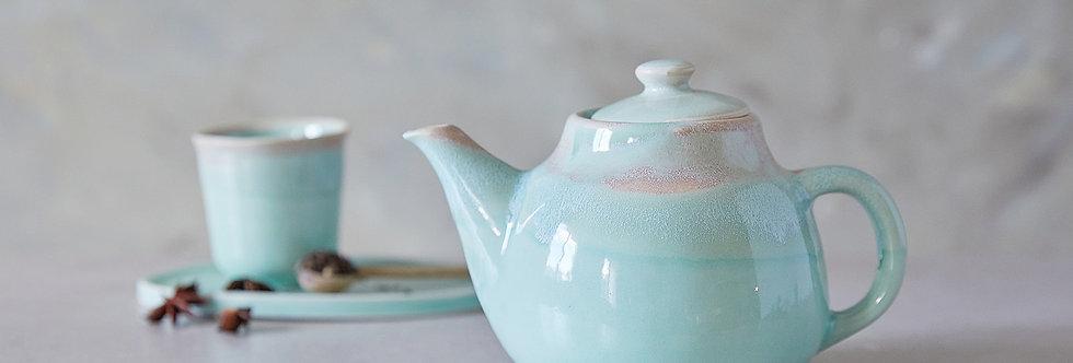 ALICE. Turquoise Ceramic Teapot, Classic Pottery, Handmade Designer Pottery