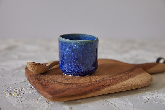 כוס אספרסו מקרמיקה בעבודת יד, כוס קרמיקה כחולה