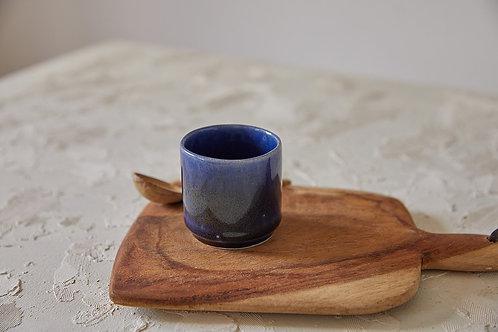 כוס אספרסו כחולה, כוס אספרסו מקרמיקה בעבודת יד