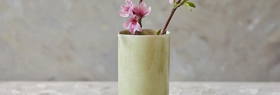 Modern Light-Green Ceramic Pitcher, Elegant Pottery Vessel, Stoneware Drinking Carafe, Ceramic Vase