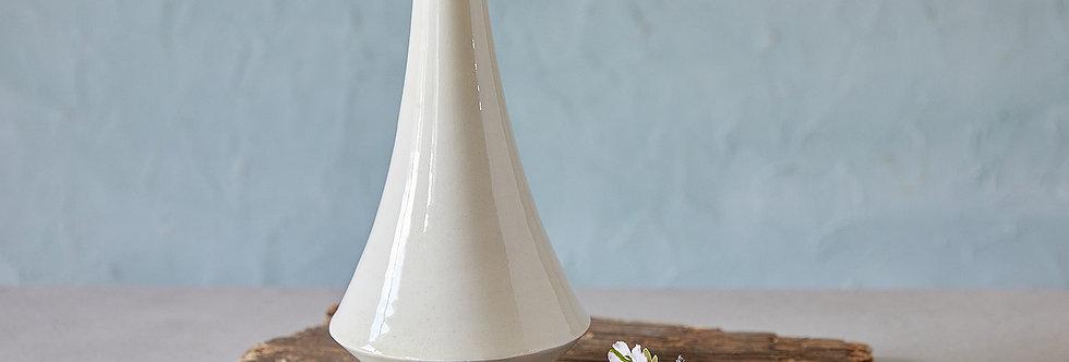 Off-White Ceramic Vase, Minimalist Flower Vessel, Pottery Bottle, Modern Home Decor, Unique Pottery New Home Gift