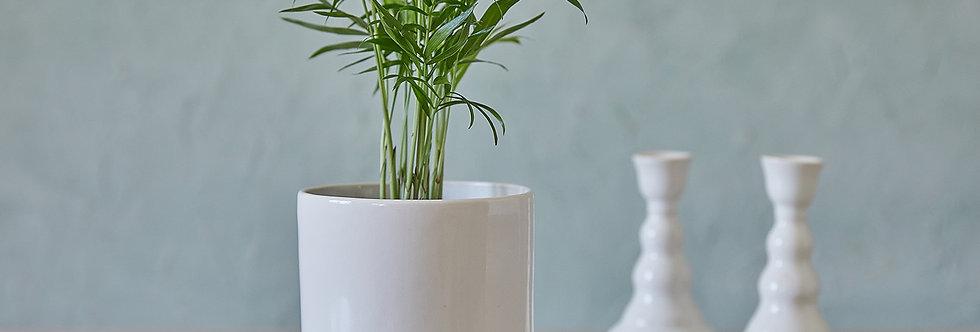 White Ceramic Planter, Indoor Modern Plant Holder, Pottery Pot, Home Succulent Planter, Mini Pot Gift