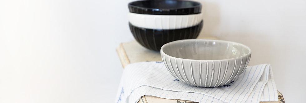 Ceramic Rice Bowl, Pottery Serving Soup Bowl, Salad bowl, Ramen Bowl, Rustic Tableware, Nesting Bowl, Noodle Bowl, Black Cera