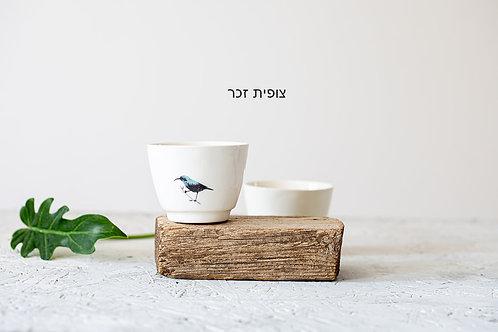 כוסות אספרסו ציפורים