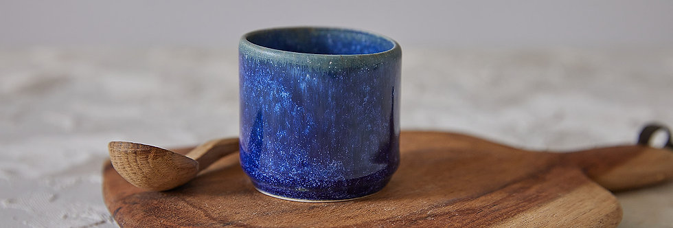 Espresso Cup Set, 2 Ceramic Coffee Cups, Stoneware Tea Cups, Japanese Design Cups, Modern Dark Blue Cup, Unique Pottery Gift