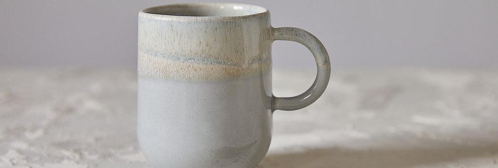 Elegant Gray and Stone Mug, Handmade Ceramic Mug, Modern Tea Mug, Mug with Handle,