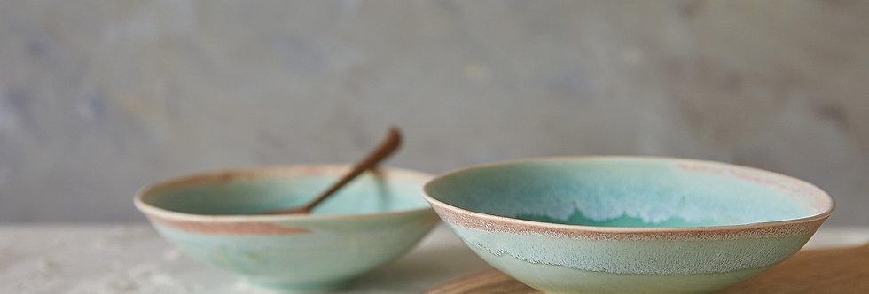 Soup Bowl, Turquoise Ceramic Bowl, Handmade Pottery Dish