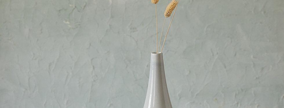Gray Ceramic Vase, Minimalist Flower Vessel, Modern Pottery Bottle, Modern Home Decor, Unique Pottery New Home Gift
