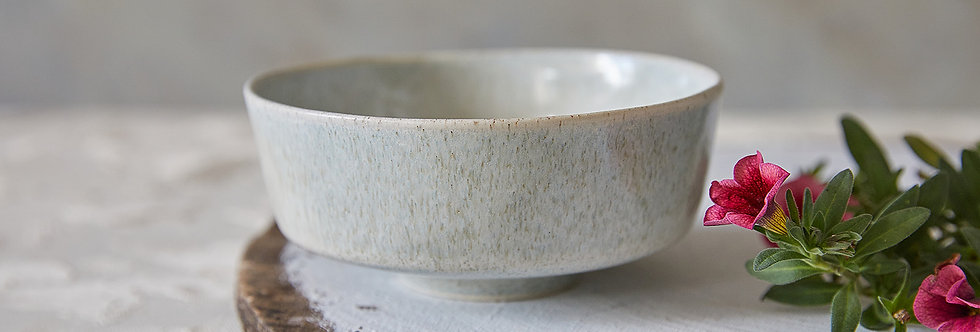 Asian Soup Bowl, Japanese Ceramic Rice Bowl, Stoney Pottery Serving Dish