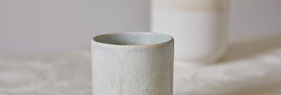 LUNGO Cup, Ceramic Coffee And Tea Cups, Double Espresso Cup Set, Japanese Design, Special Stoney Glaze