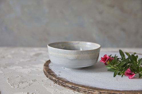 קערת קרמיקה בסגנון אסייתי, קערת אורז, קערה בעבודת יד, קערה אפורה אבן
