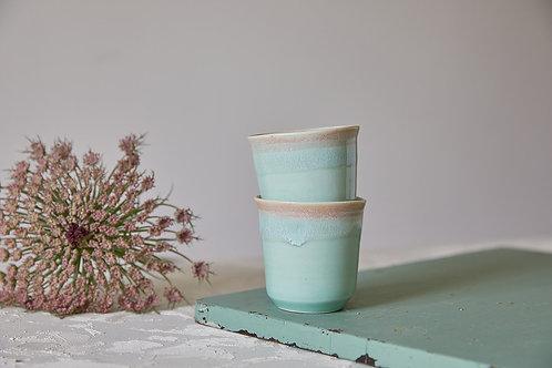 כוס אספרסו טורקיז, כוס קרמיקה בעבודת יד, כוס קרמיקה לתה