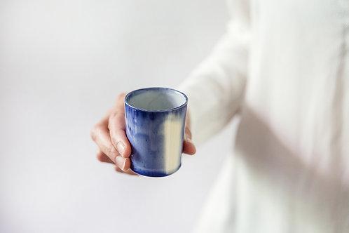 כוס אספרסו כחול לבן