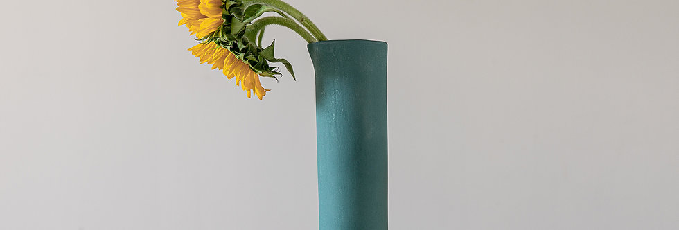 Modern Ceramic Vase, Dark-Green Pottery Vessel, Drinking Carafe, Water Pitcher, Tabletop Vase, Vase For Flower