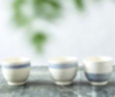 Ceramic Coffee Cups Set, Matcha Tea Bowl, Chawan Tea-Bowl, Japan Pottery Tumbler, Sake Cups Set, Blue & White Handmade Cup, Greek Inspired