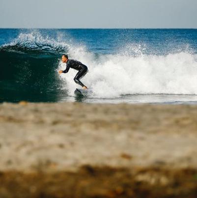 Surfing bottom turn