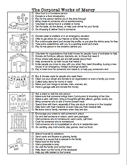 The Corporal Works of Mercy- Practical I