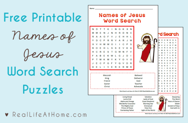 Names of Jesus Word Search