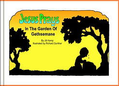 Jesus Prays In The Garden of Gethsemane.