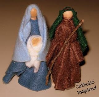 Holy Family Felt craft