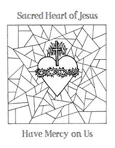 sacred heart glass mercy coloring page.J