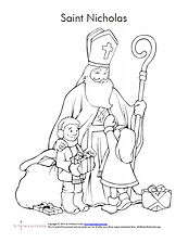 St. Nicholas Colouring page.png