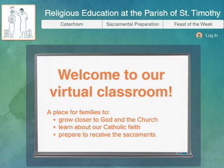Welcome to our NEW catechism website!