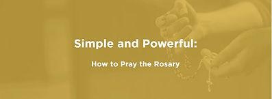 How to Pray the Rosary Dynamic Catholic.