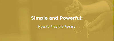 How to Pray the Rosary Dynamic Catholic.