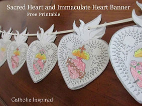 Sacred & Immaculate Hearts lacy banner.j