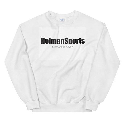 Holman Sports - White Unisex Sweatshirt