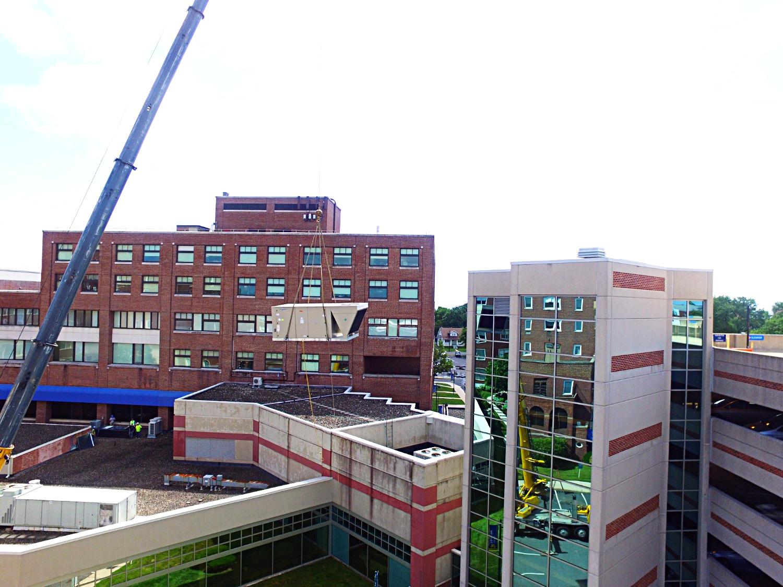 Rooftop AHU Crane Lift