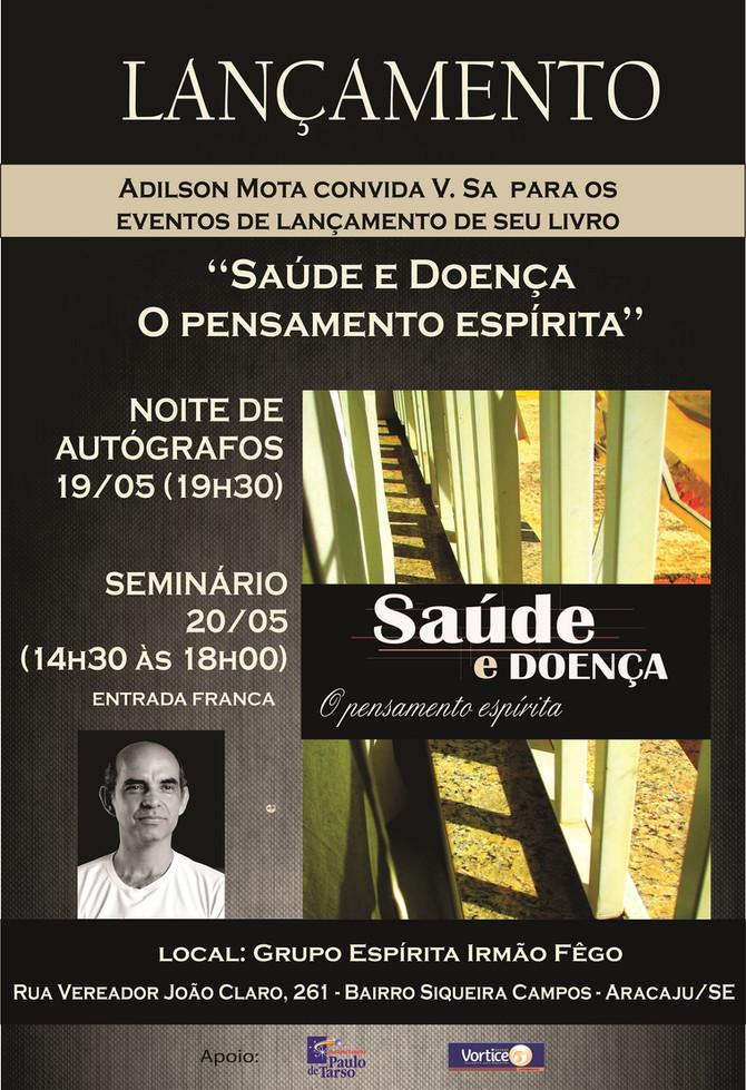 Livro espírita sobre Saúde e Doença será lançado em Aracaju