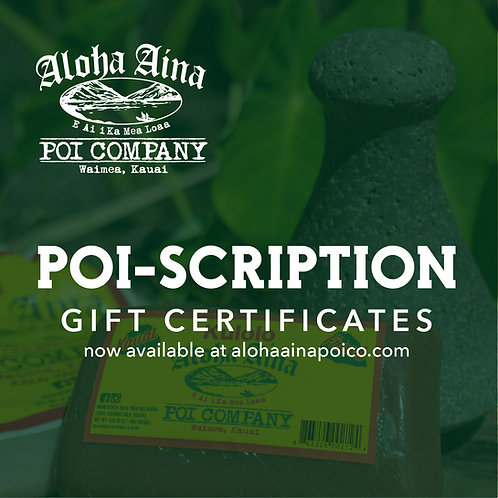 Poi-Scription Gift Certificate (3 Months)