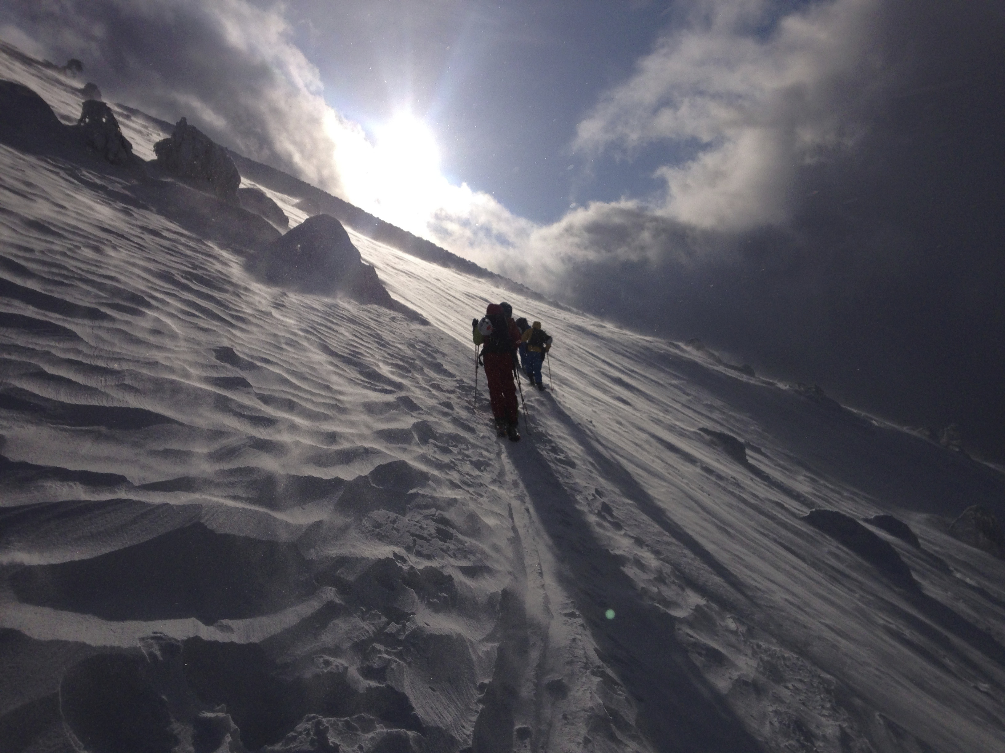 Hiking up Mt Yotei in Hokkaido