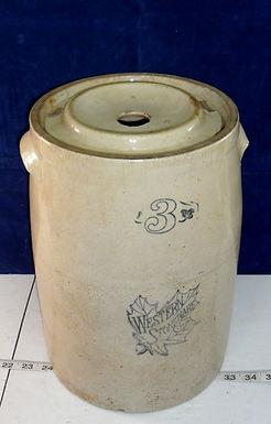 3-Gallon Butter Churn by Western Stoneware