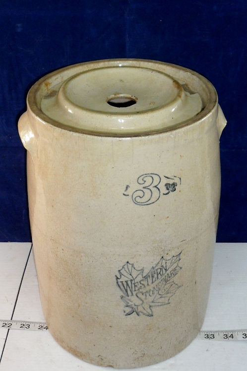 3-Gallon Butter Churn by Western Stoneware