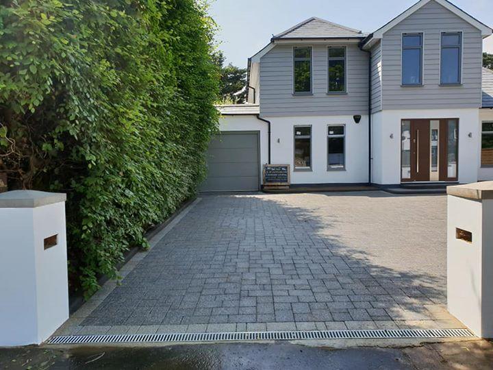 Granite effect block driveway
