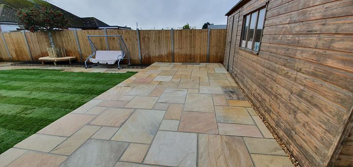 Sandstone patio