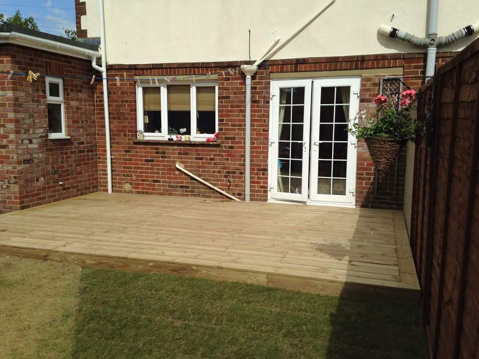 Smooth softwood decking
