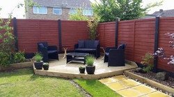 Corner deck and sleeper planters