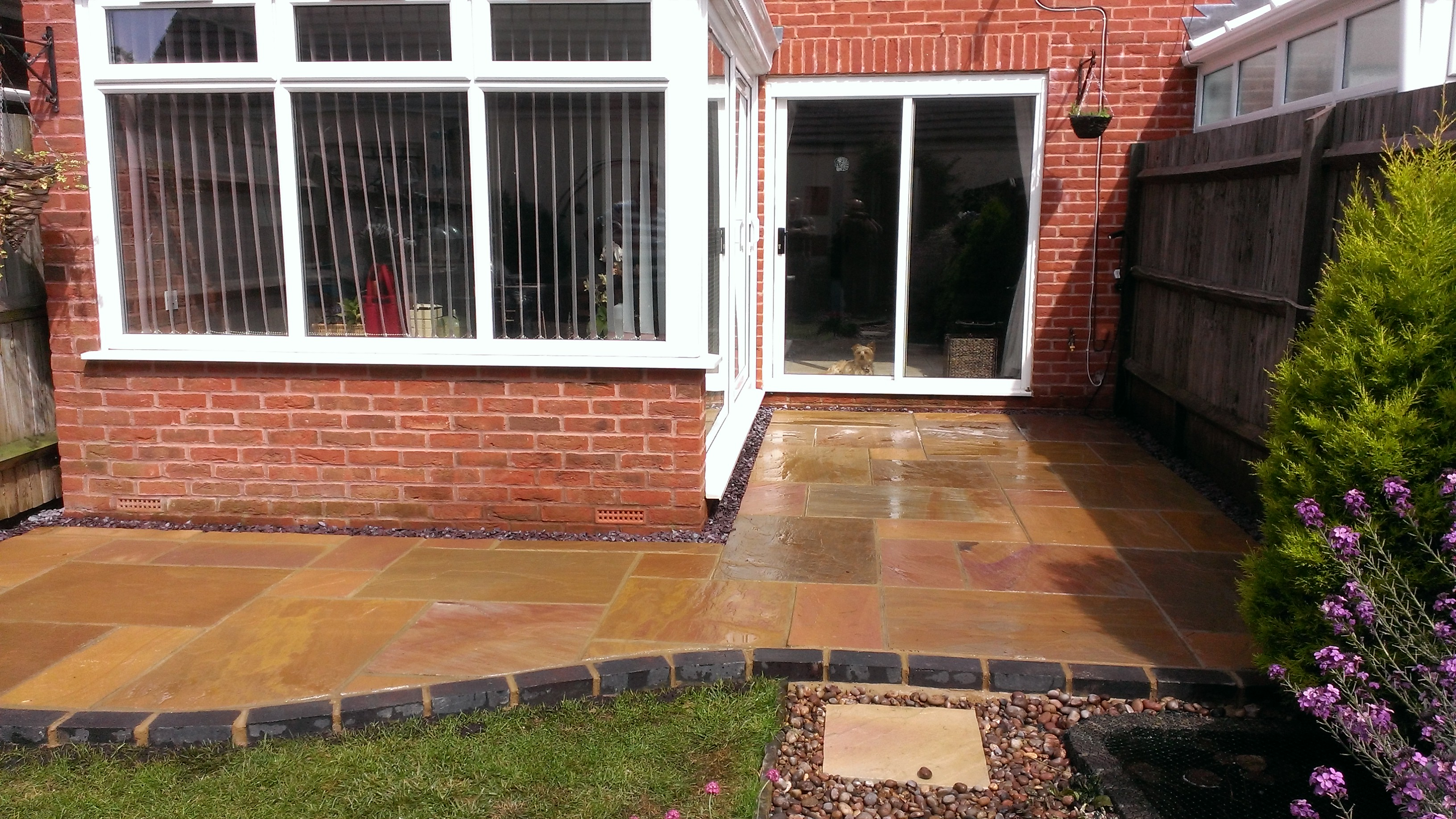 Sunset sandstone patio