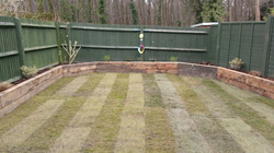 Recycled sleeper border