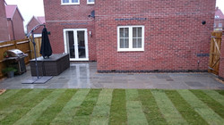 Grey sandstone patio