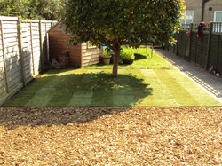Extension  of the lawn